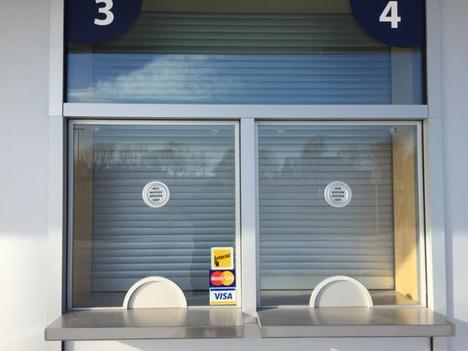 Richardson Stadium Commercial Garage Door