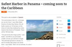 Safest Harbor in Panama...