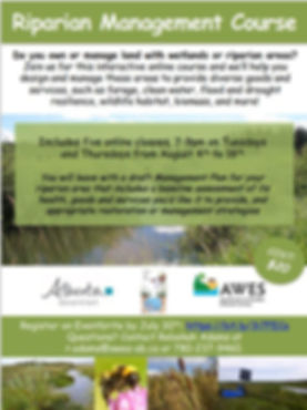 Riparian Management Course Poster Ad Fin