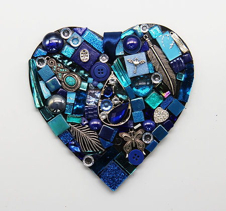 Blue sparkle heart