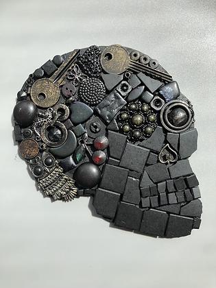 Retro black skull
