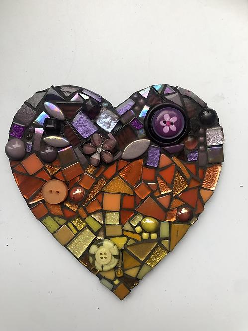 Bold mix mosaic heart