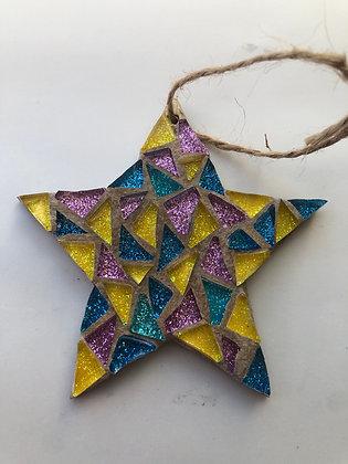 Star xmas tress decoration