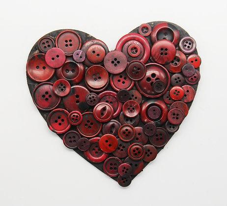 Retro button heart