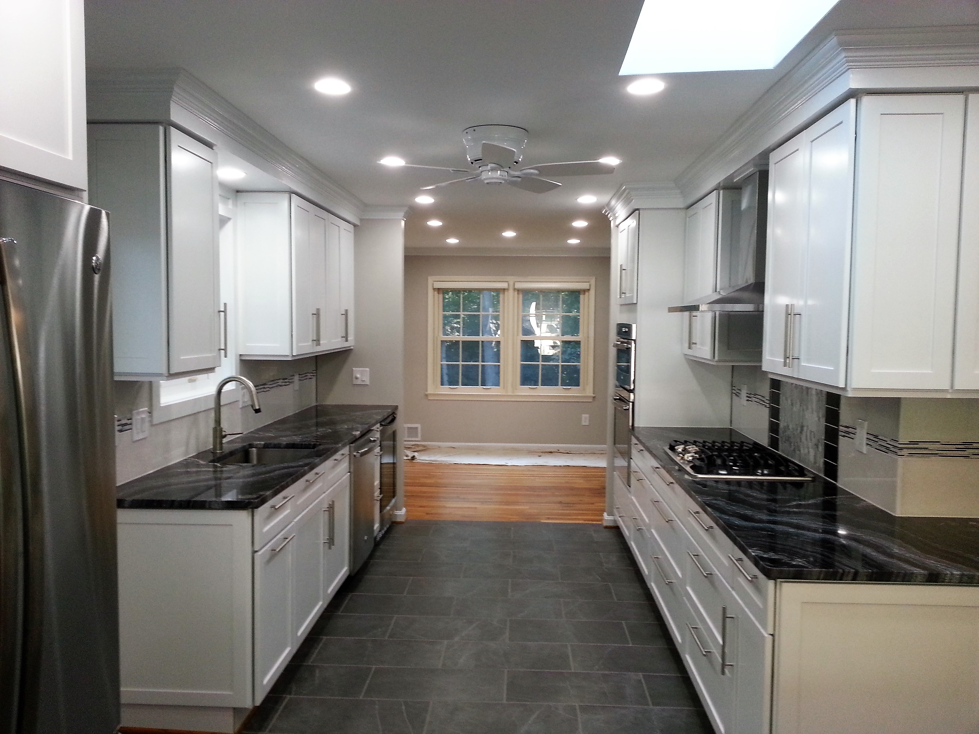 CUSTOM KITCHEN WITH WHITE CABINETS