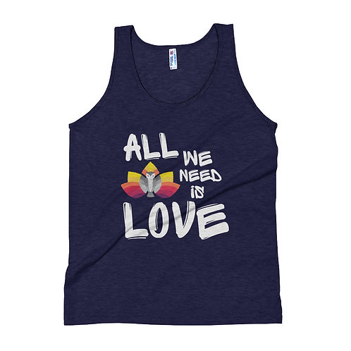 All We Need is LOVE Distressed Logo Unisex Tank Top