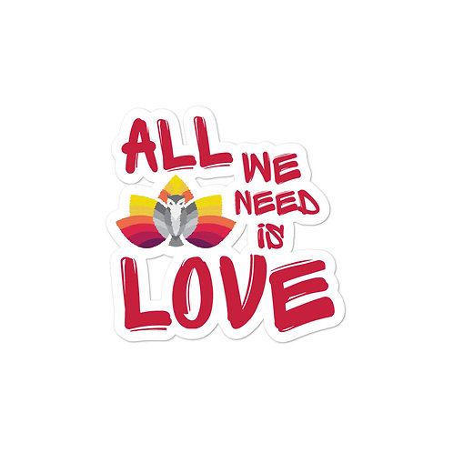 Sticker - All We Need is Love