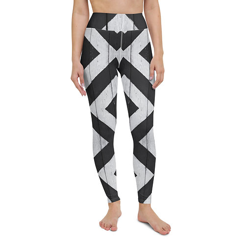 Yoga Leggings - B&W Diamond