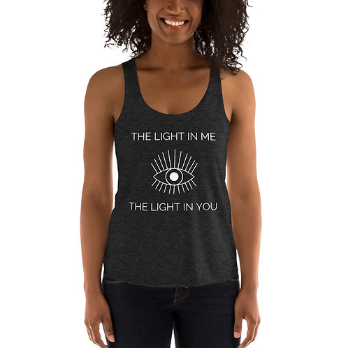 The Light In Me SEES - Women's Tri-Blend Racerback Tank