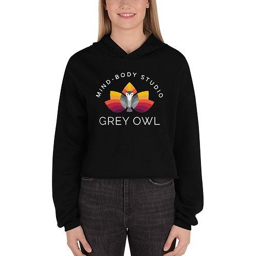 Grey Owl Color Logo - Crop Hoodie