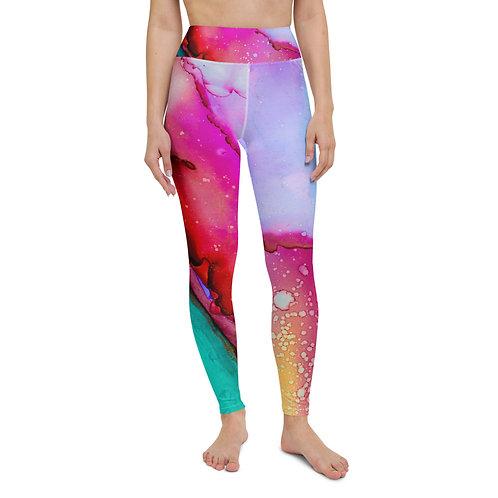 Yoga Leggings - Spilled Paint