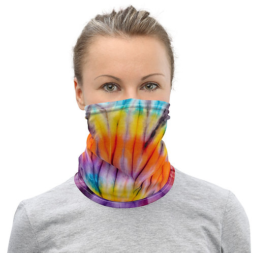 Neck Gaiter - Tie Dye Purple/Yellow/Orange