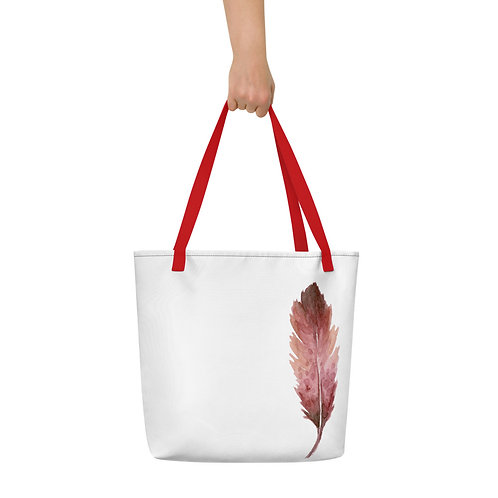 Beach Bag - Red Feather