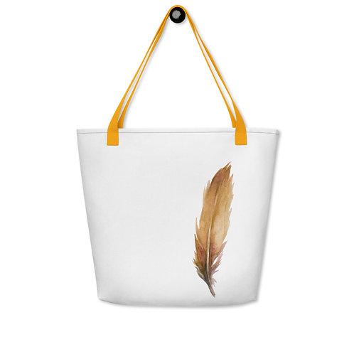 Beach Bag - Orange Feather