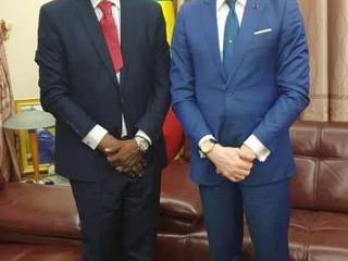 CAN 2019 : le DG de l'UAR rencontre le ministre congolais de la Communication