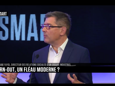 """Burn-out, un fléau moderne ?"" : mon intervention sur B SMART TV"