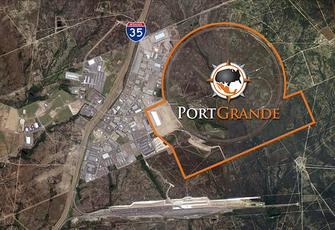 Aerial satellite view of Port Grane site