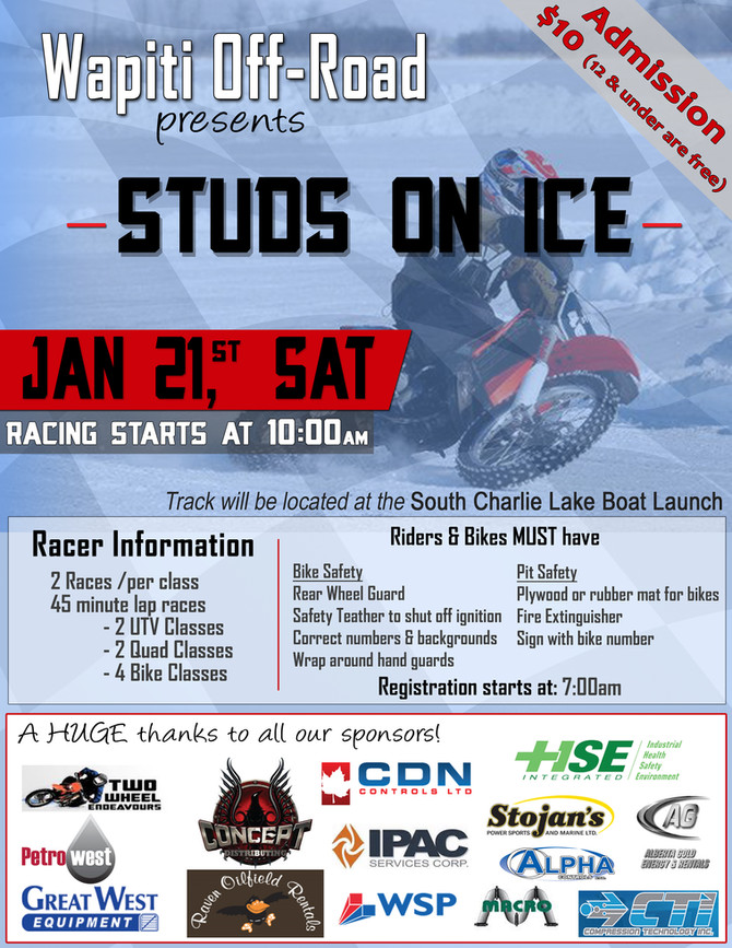 Local riders are getting 'Studded' up for the weekend!