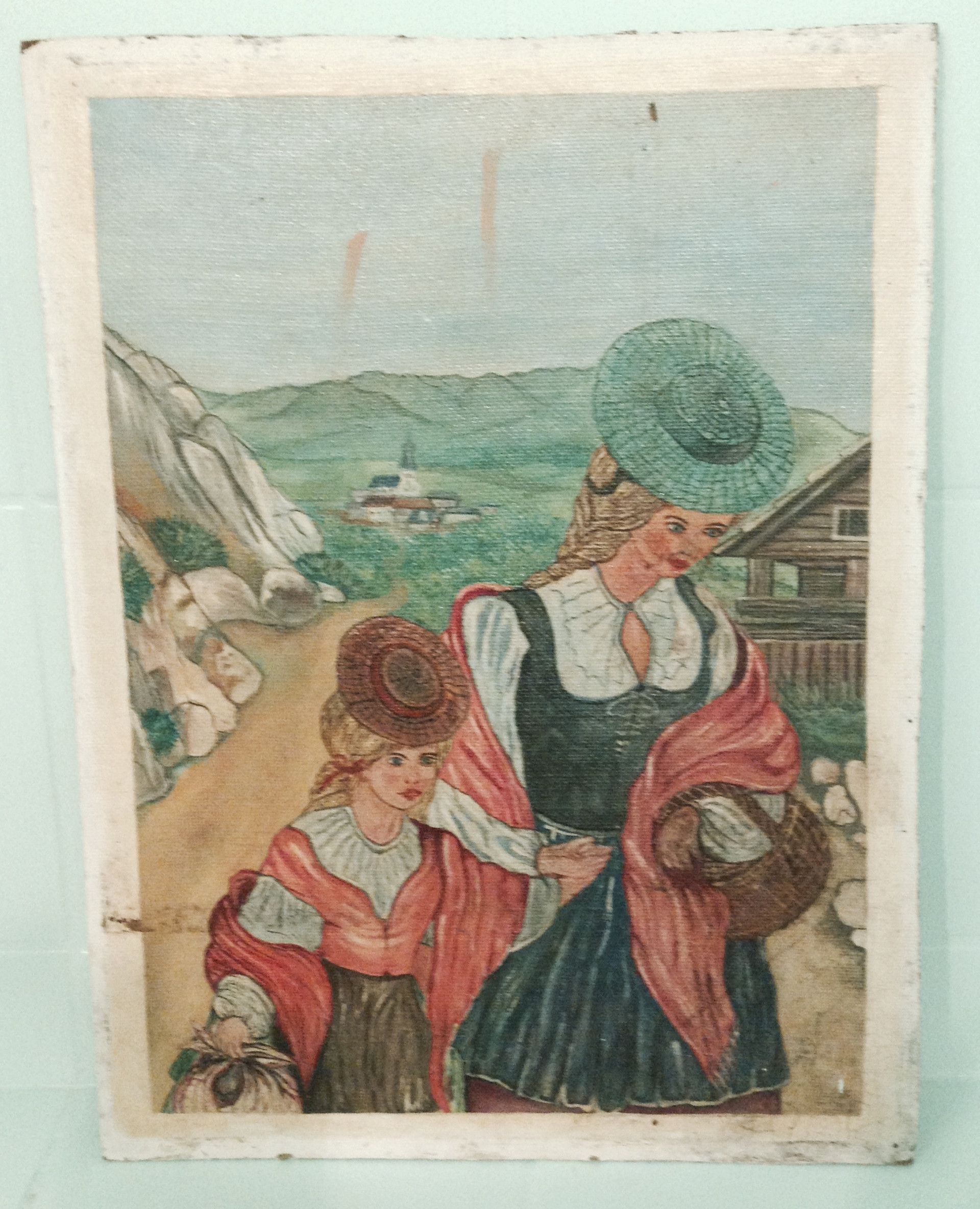 Landschaft mit Bäuerinnen