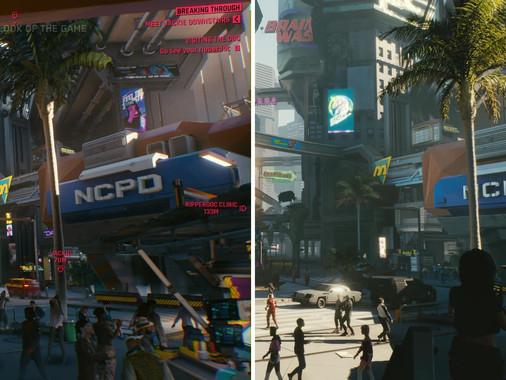 Comparación gráfica de Cyberpunk 2077 entre la generación actual y la pasada