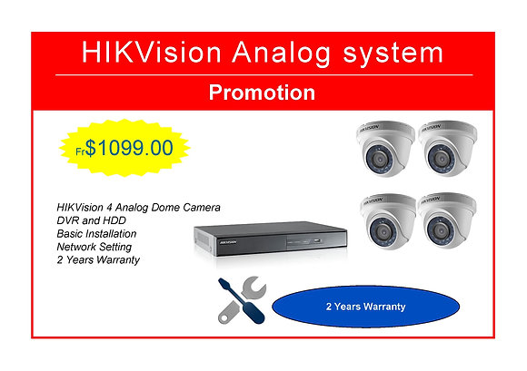 HIKVision Camera Package