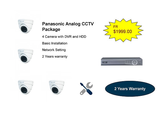 Panasonic Analog Camera package