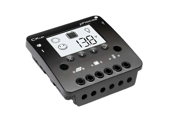 Phocos CXup series 10 – 40 A Solar Charge Controllers with LC Display & USB port
