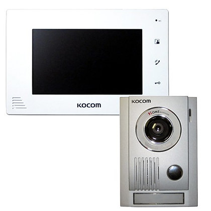 Kocom 1 to 2 Video Intercom KCV-A374W+MC30
