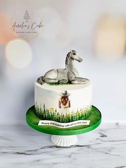Grey Horse Cake