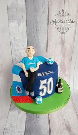 Rangers football themed cake