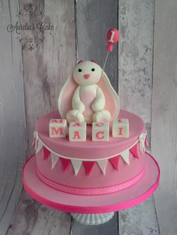 First birthday bunny cake.