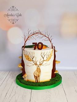 Deer_ Woodland Cake