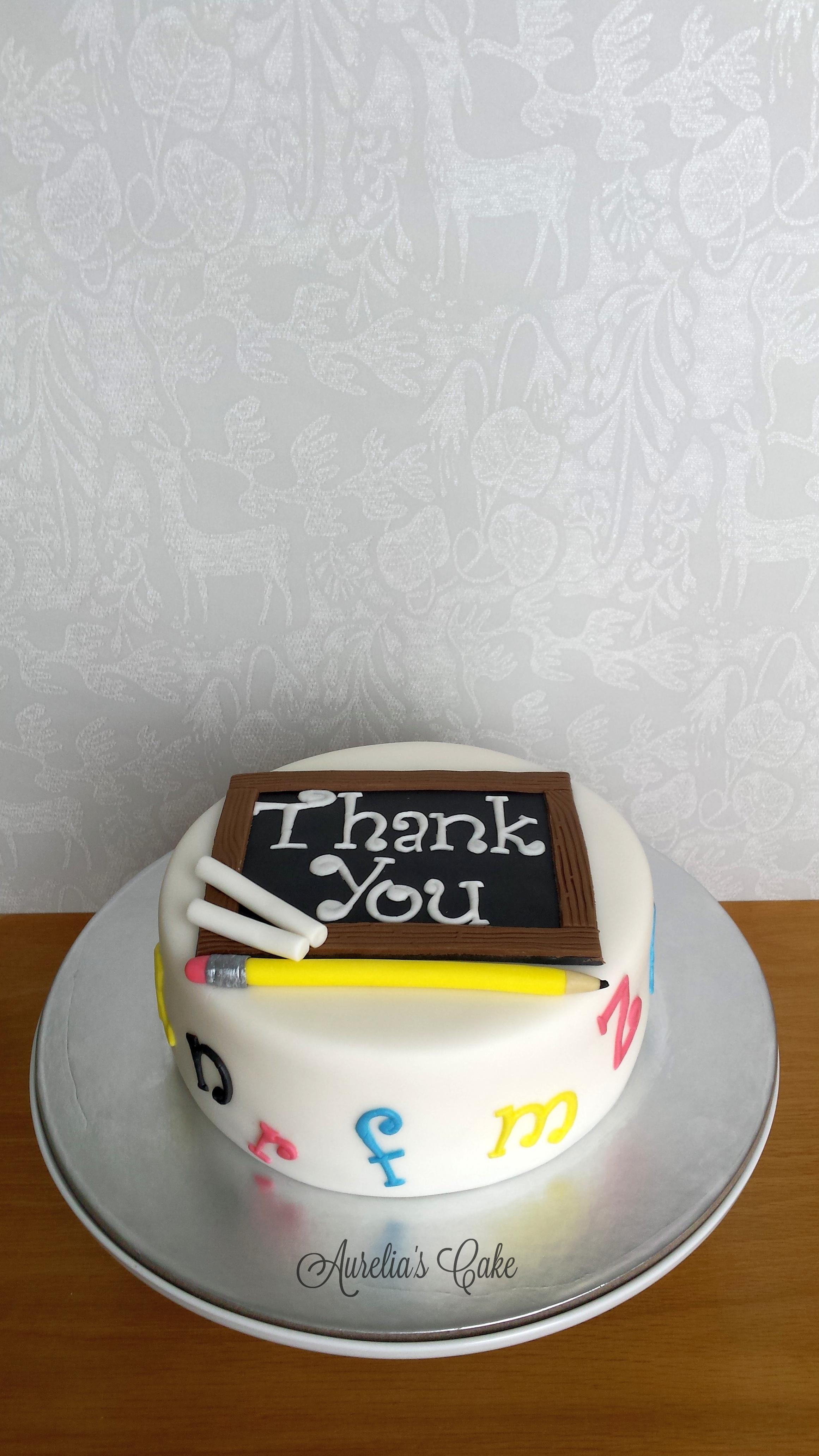 Thank you teacher cake.