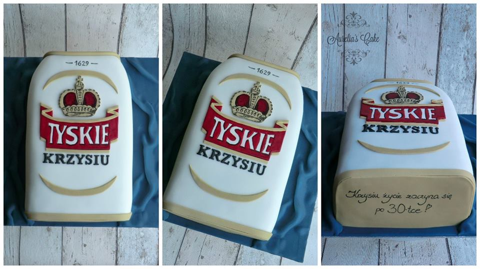 Beer can cake.