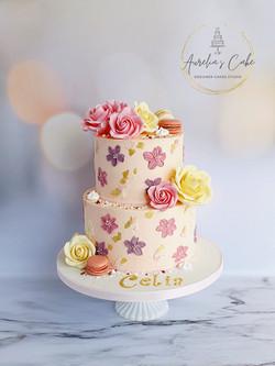 Buttercream Painted Rose Cake