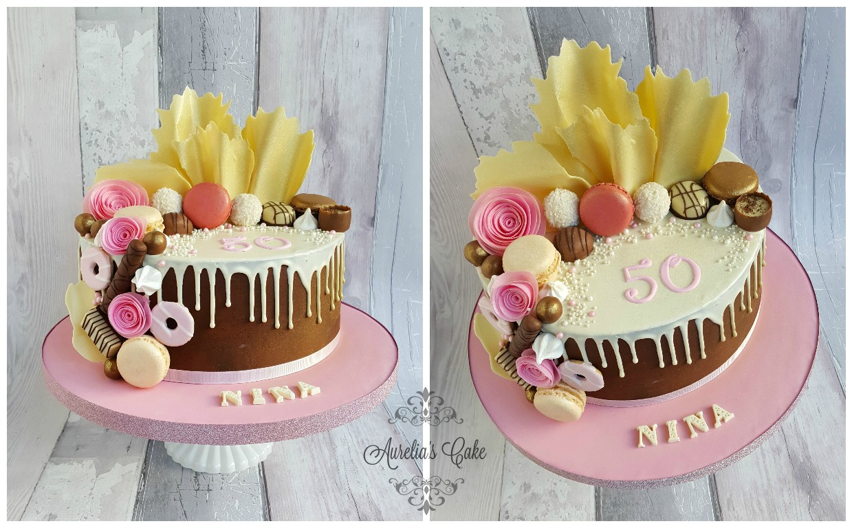 White chocolate drip cake for women