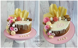 White chocolate drip cake for women