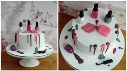 Nail polish cake.