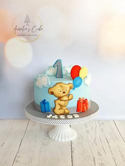 Teddy Bear_First Birthday Cake