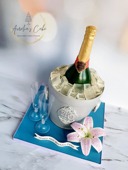 3D Champagne Ice Bucket Cake