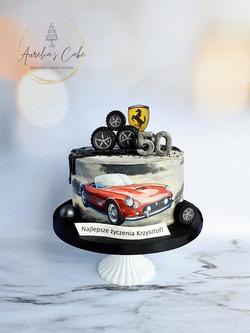 Ferrari Car Drip Cake