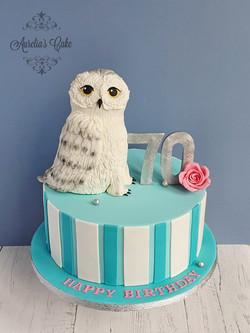 Owl Teal Cake