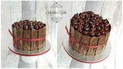 Chocolate and black cherries cake.