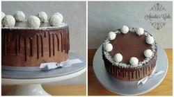 Chocolate and raffaello cake.