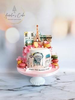 I Love Paris Cake