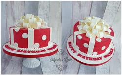 Gift box cake.