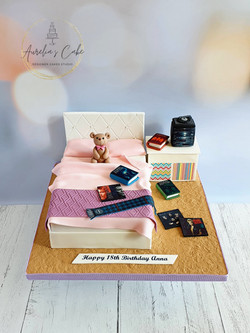 Teen Bedroom Themed Cake