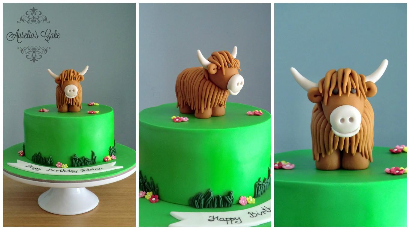 Highland cow cake.