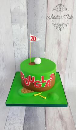 Golf themed cake_