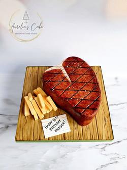 T-Bone Steak & Chips Cake